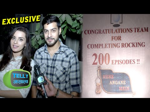 Interview : Shivam & Riya Talk About 'Mere Angne Mein' Completing 200 Episodes | Star Plus