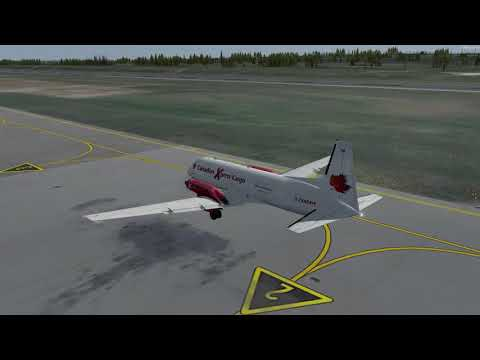 Hawker Siddeley HS.748 Deer Lake (CYDF) to Nuuk (BGGH) P3D v4.1