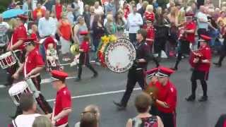 carrickfergus accordion band@sandy row 12th july 2014