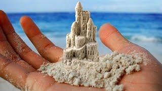 Замок из песка.(В Лондоне, на берегу Темзы мы увидели работу мастера песчаных скульптур., 2016-01-12T11:49:11.000Z)