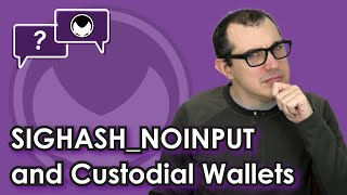Bitcoin Q&A: SIGHASH_NOINPUT and custodial wallets