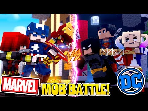 Minecraft Mob Battle - MARVEL vs DC, WHO IS THE BEST?!