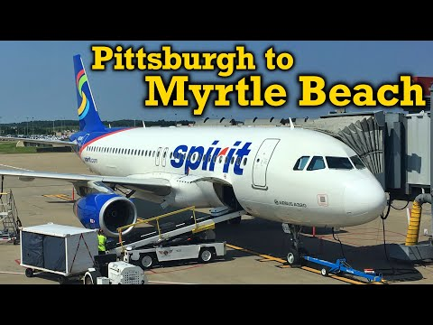 Full Flight: Spirit Airlines A320 Pittsburgh to Myrtle Beach (PIT-MYR)