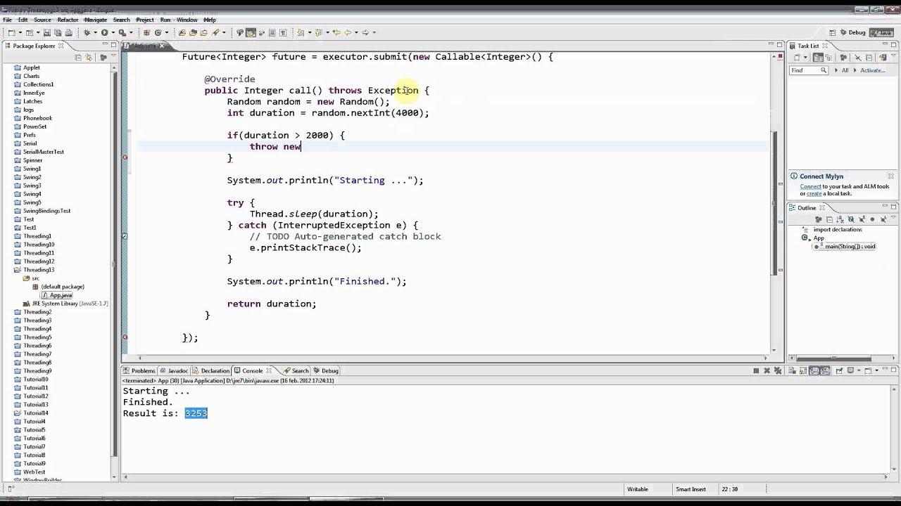 Advanced java multi threading part 13 callable and future youtube baditri Gallery