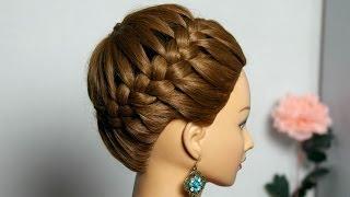 видео Косы на средние волосы