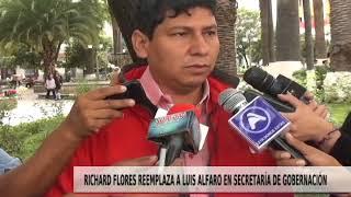 RICHARD FLORES REEMPLAZA A LUIS ALFARO EN SECRETARÍA DE GOBERNACIÓN