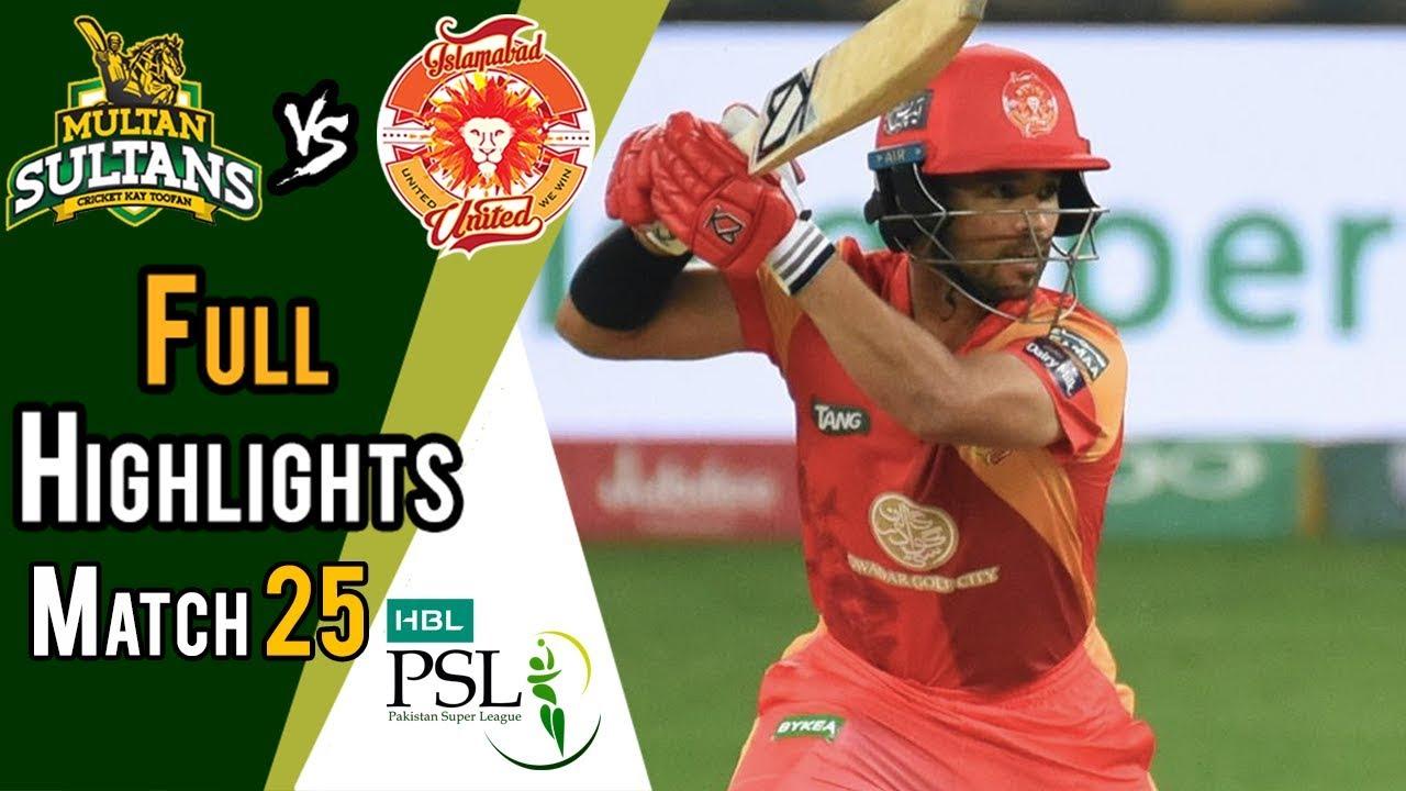 Full Highlights   Multan Sultans Vs Islamabad United    Match 25   13 March   HBL PSL 2018