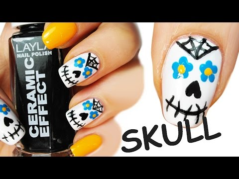 Sugar Skull Nail Art Tutorial :Teschio Messicano
