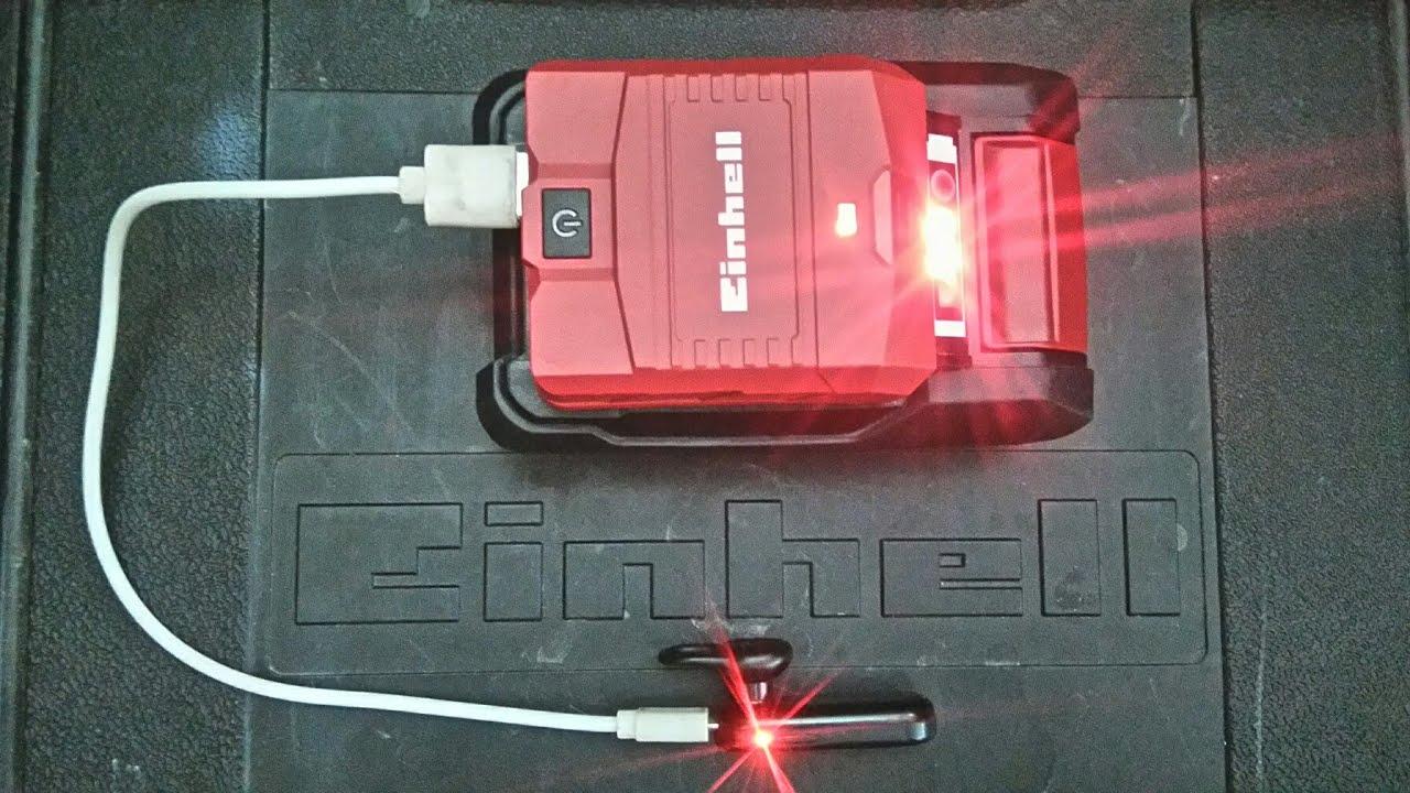 Einhell TE-CP 18 LI USB-Solo Power X-Change Battery Adaptor 18V Li-Ion