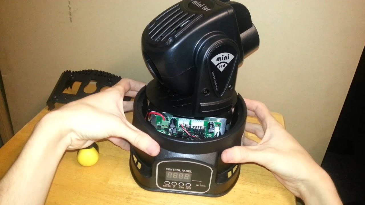 15w Rgb Led Mini Moving Heads Model P046 Unboxing