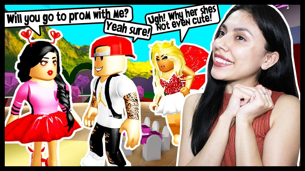 Zailetsplay Roblox High School The Cutest Boy I Asked A Cute Guy To Prom To Make My Bully Jealous Roblox Royal High School Youtube
