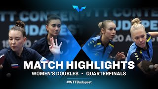 M.Tailakova/E. Abraamian vs Linda Bergstrom/Christina Kallberg | WTT Contender Budapest 2021 (1/4)