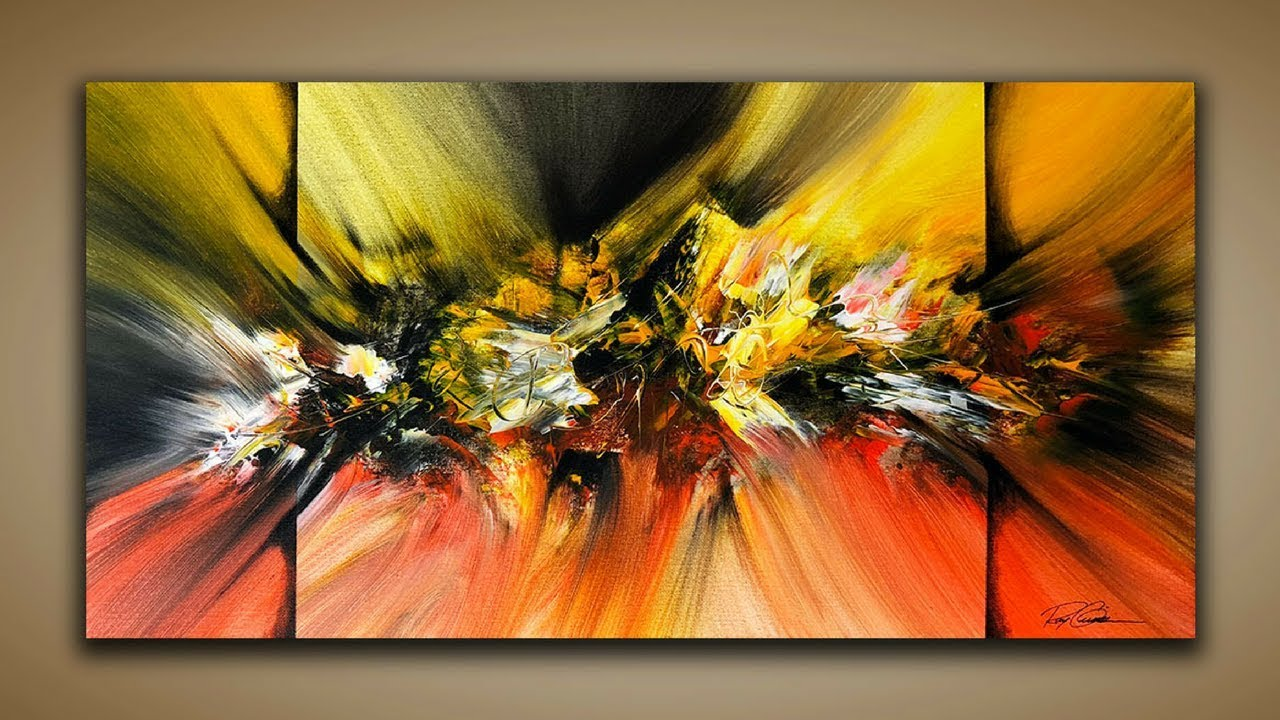 abstract painting demo 58 abstract art how to paint