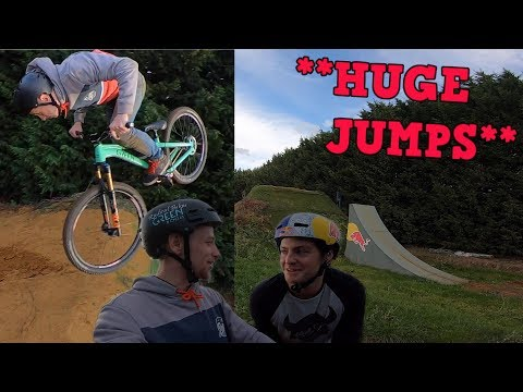 Riding **HUGE**  jumps with Matt Jones!