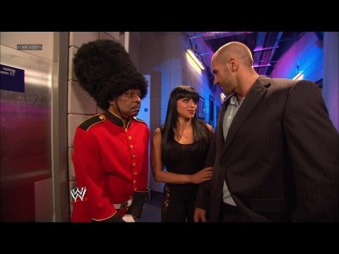 """As """"Queen's Guard"""" Teddy Long stands his post outside John"""