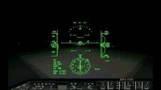 Night Takeoff and Landing In HUD - SIM
