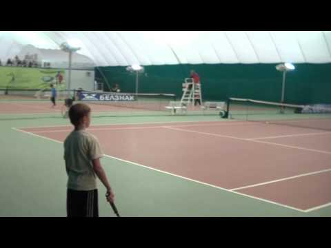 Oktober 25, 2012 Belgorod Tennis Eliseev Alexandr vs Kozlov Nikita 1(2) HDV.MP4