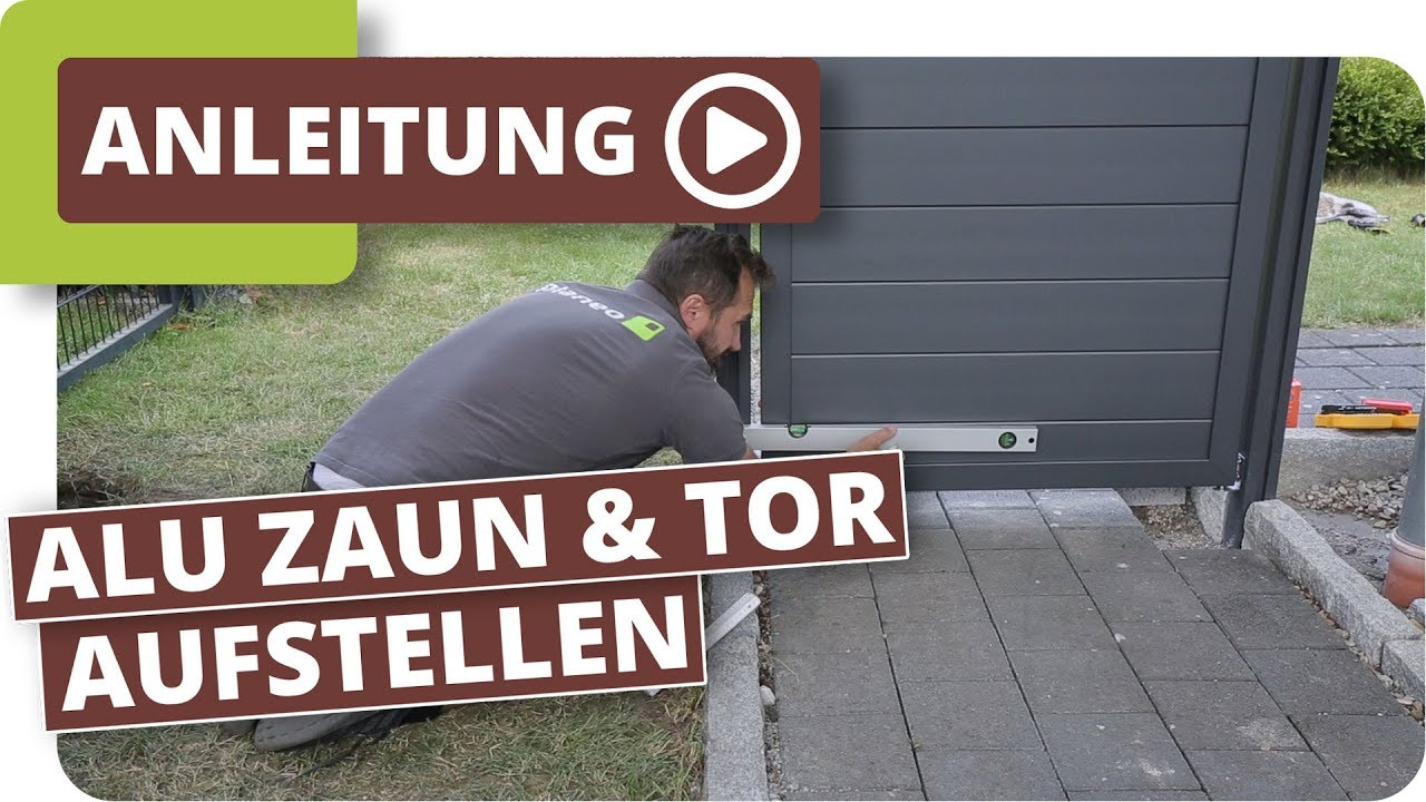 Aluminium Sichtschutzzaun Mit Gartentor Aufbauen Youtube
