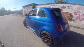 Abarth 695 biposto 225hp reaction girlfriend and sound exhaust very funny