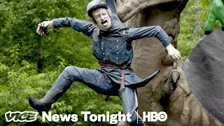 Inside The Weird Dinosaur Park Where Confederates Defeat The Union Army (HBO)