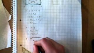 Rechteck und Quadrat berechnen - Umfang, Flächeninhalt, Diagonalen