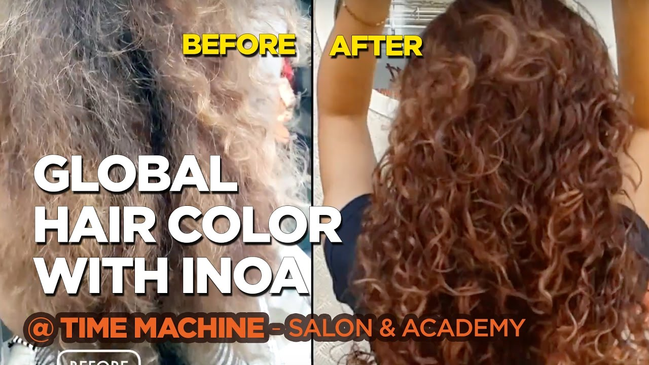 Warm Copper Shade Global Hair Colour Volumnous Curls Youtube
