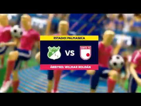 Cali vs Santa Fe (Goles y Highlights)   Liga Aguila 2019-II   Cuadrangulares Fecha 2
