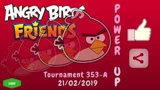 Angry Birds Friends Tournament 353-A All Levels POWER UP Walkthrough