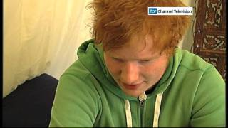 Ed Sheeran interview on Studio Jam (ITV Channel Television)