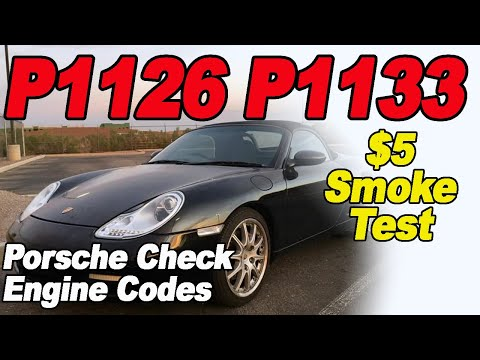 Porsche P1126 P1133 Check Engine Codes and How to Fix Them with a $5 Home Made Smoke Machine.