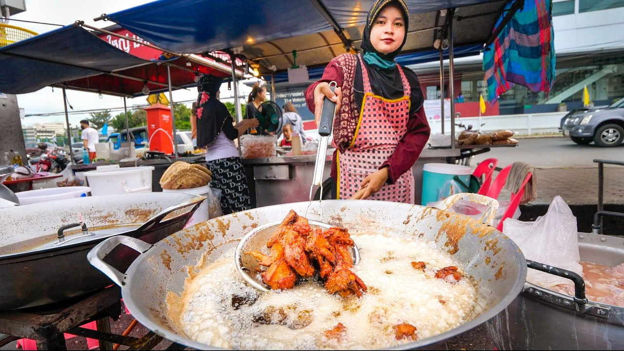 Street Food FRIED CHICKEN!! 🍗 The Ultimate Thai Fried Chicken Tour!!   Hat Yai, Thailand