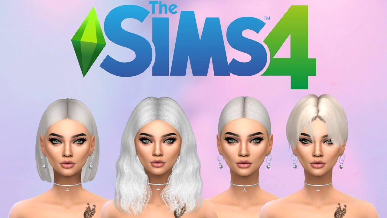 The Sims 4 Short And Medium Alpha Cc Hair Collection Part 1 Creator Cc Links Youtube