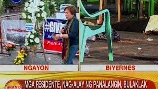 Mga residente, nag-alay ng panalangin, bulaklak at kandila para sa mga biktima ng pagsabog sa Davao