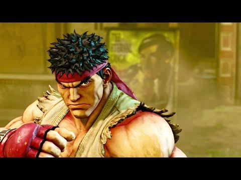 Street Fighter V Story Gameplay Ryu Ken Cammy Vega Laura FANG Livestream