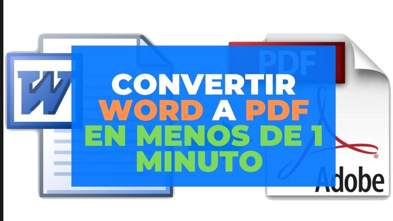 COMO CONVERTIR UN PDF EN MENOS DE 1 MINUTO SIN PROGRAMAS