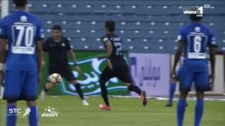 هدف الهلال الاول ضد الباطن ( ناصر الشمراني ) في الجولة 1 من دوري جميل