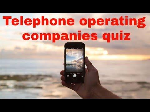 Telephone operating companies quiz