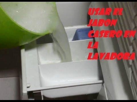 Como usar el jab n casero en la lavadora how to use the - Jabon lavadora casero ...