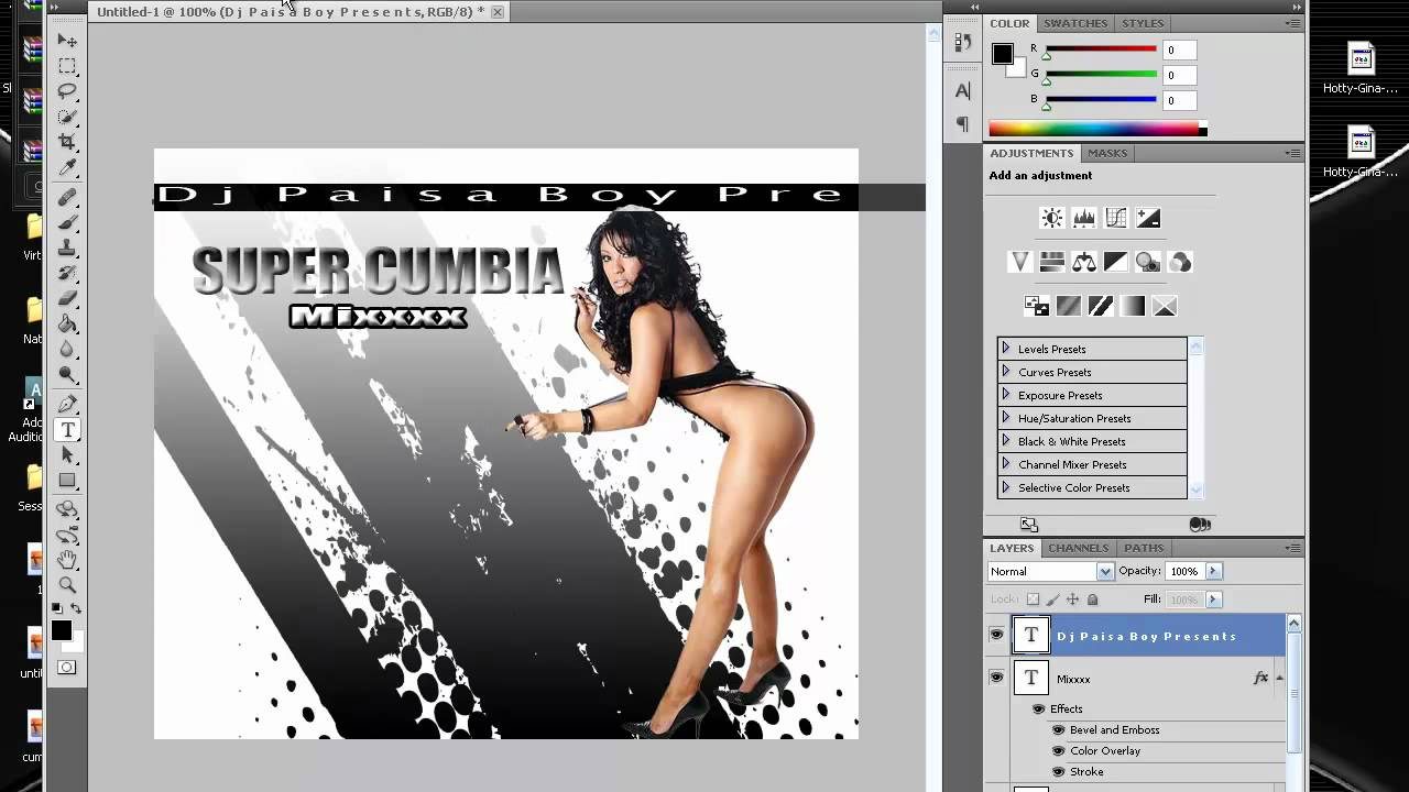 how to create a cd cover on photoshop