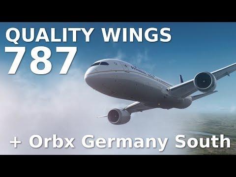 [FSX] Quality Wings 787 || LANDING at MUNICH (EDDM) + ORBX GERMANY SOUTH