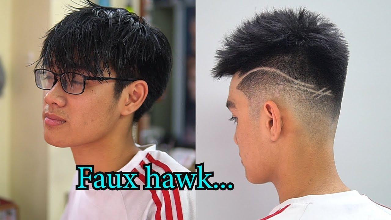 Chia sẻ kiểu tóc Faux hawk / Mid Fade / tóc bung , tóc dựng in TƯỜNG BARBER   Bao quát những tài liệu nói về kiểu tóc dựng mới cập nhật