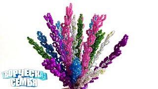 """Цветы из бисера """"Вереск""""—Бисероплетение, подробный МК✔️Beaded flowers"""