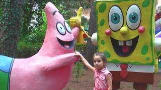 Outdoor Playground for children Amusement park Funny playtime with Miss Lana