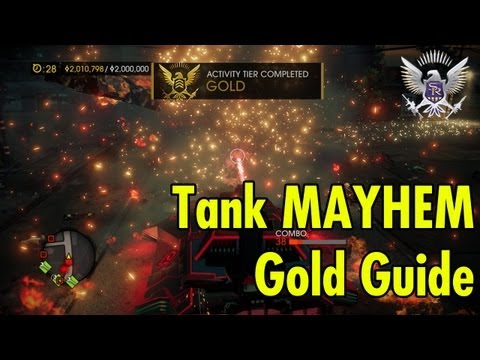 Tank MAYHEM Gold Guide Saints Row 4