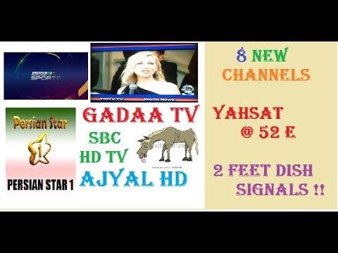 8 New Channels on YAHSAT @52E - KSA Sports 2, Saudi 2, Ajyal HD, Gadaa Tv,  SBC HD, Tin Tv,