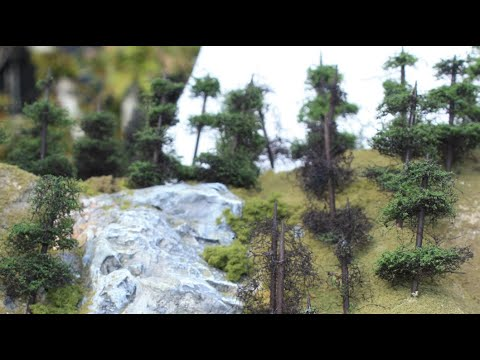 ᴴᴰ Make TOOTHPICK PINE TREES model railroad scenery