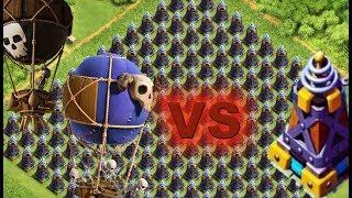 100 ШАРОВ VS х99 Мегатесел. Приватный сервер Clash of Clans