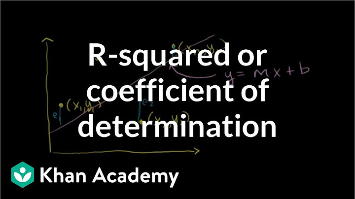 rsquared or coefficient of determination  regression  probability and statistics  khan academy