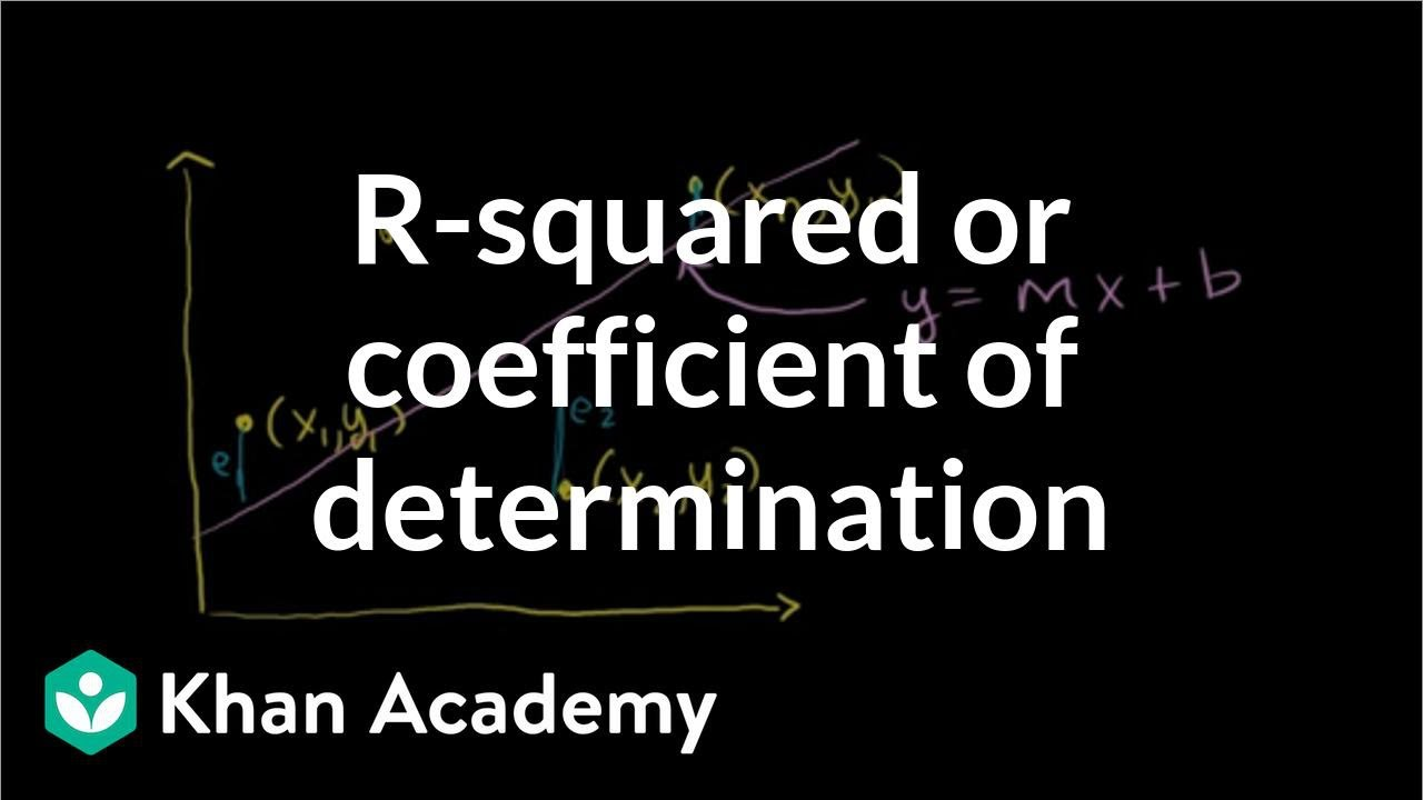 R-squared or coefficient of determination (video) | Khan Academy