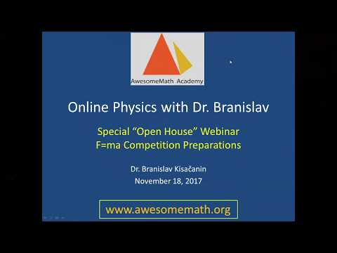 AwesomeMath Academy | Online Physics Problem Solving with Dr.Branislav | F=ma Competition